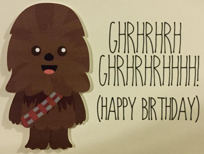Happy Birthday From Chewbacca Birthdays Feliz