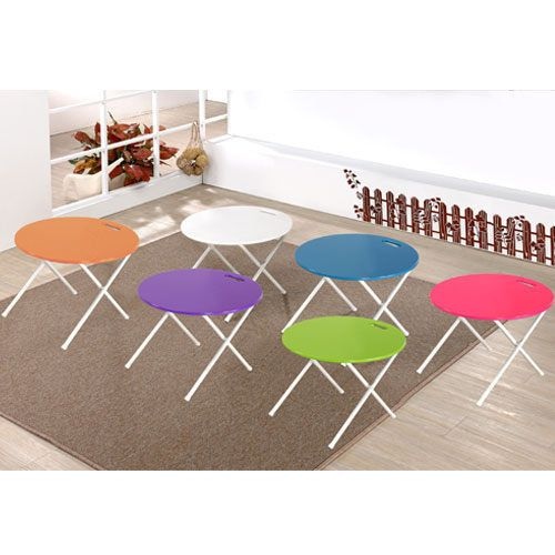 百老匯diy家具-粉藍圓形手提折疊桌(此為粉藍下標區)/休閒桌/小茶几 好收納不佔空間 | 百老匯家具 - Yahoo! 奇摩拍賣