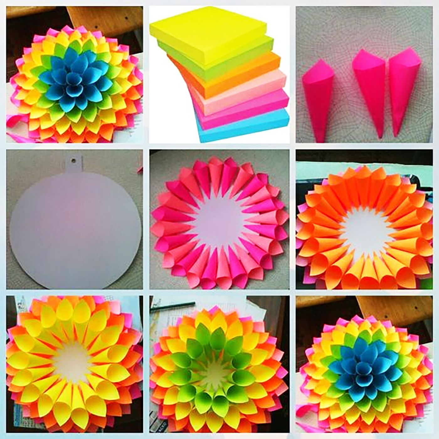 Cute Flower With Little Colorful Papers Paper Flowers Craft Paper Crafts Diy Paper Crafts