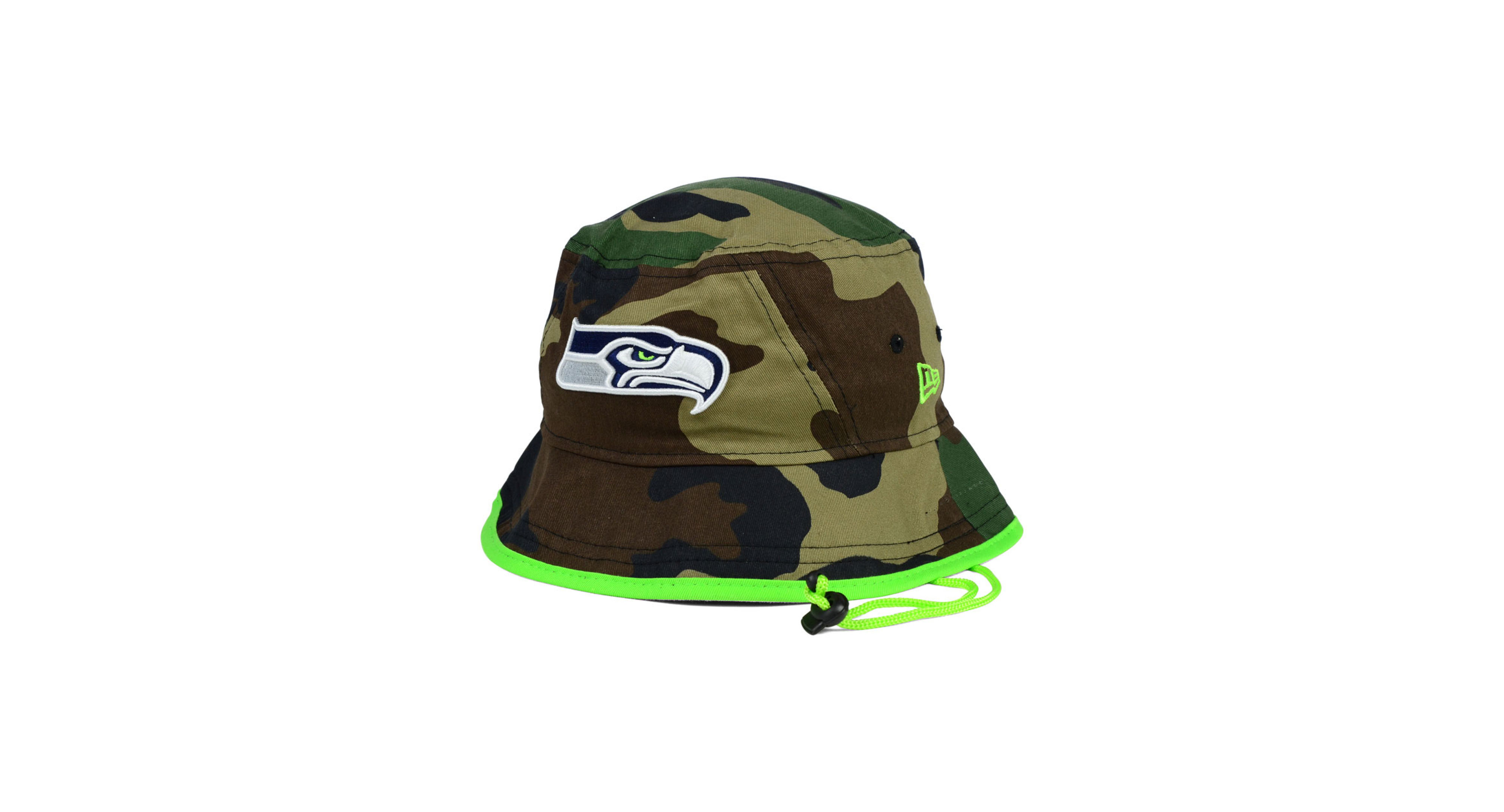 d2d41da0d591a New Era Seattle Seahawks Camo Pop Bucket Hat