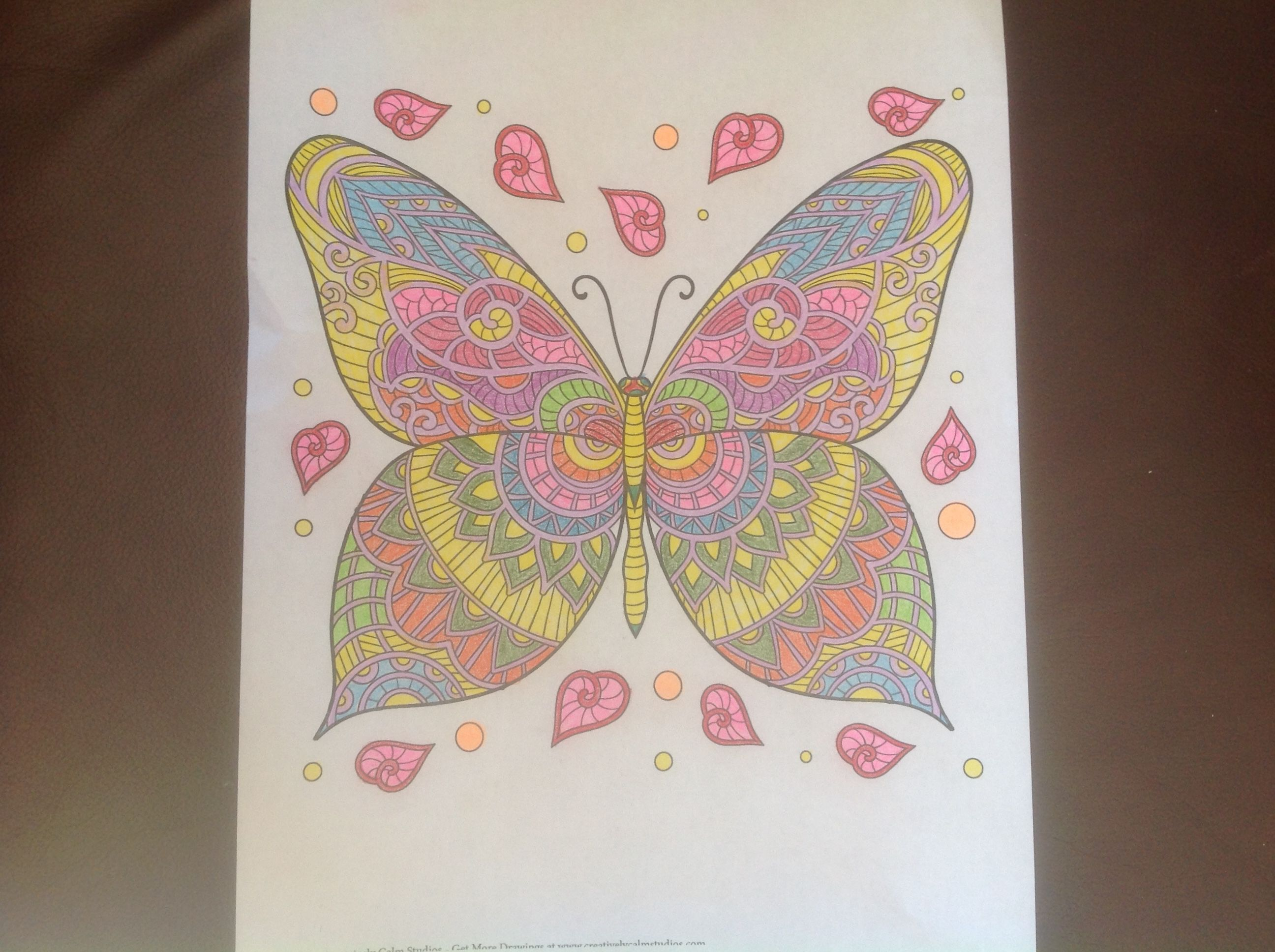 The coloring book of cards and envelopes flowers and butterflies - Butterfly From Creatively Calm Studios Adult Coloring Books