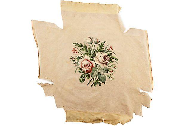 Antique Rose Needlepoint II