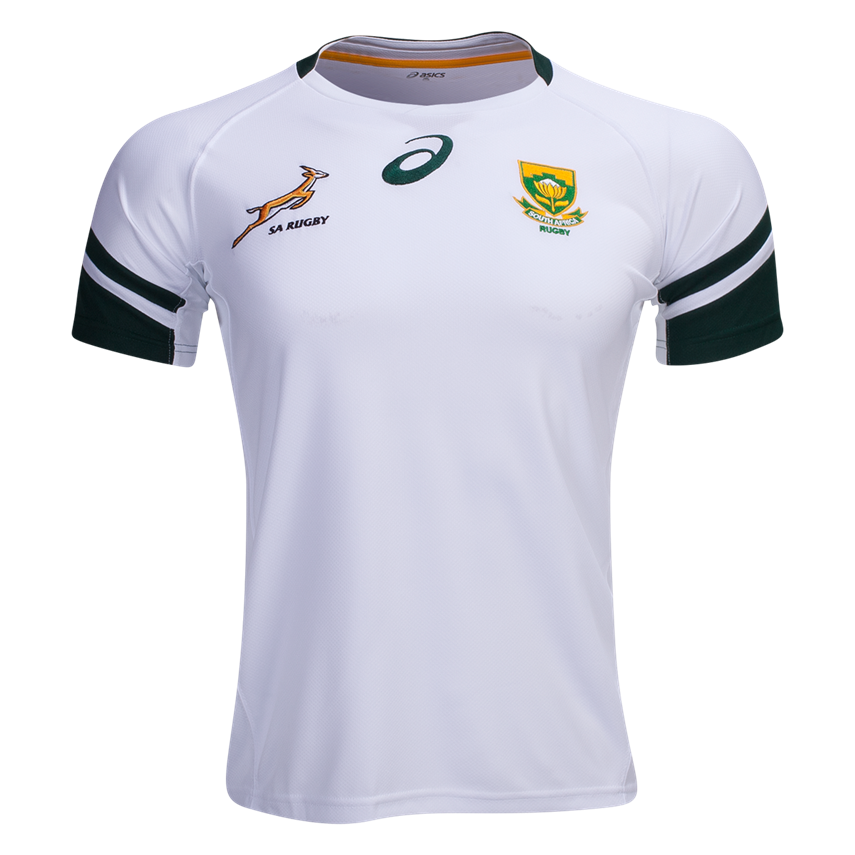 South Africa Springboks 16 17 Alternate Rugby Jersey Shop Your Favorite National Rugby Team S Jerseys And Apparal At Wo Rugby Jersey Rugby Team Team Jersey