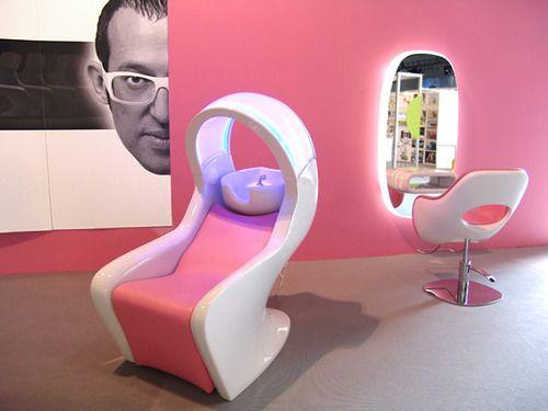 karim rashid futuristic salon barbershop beauty salon design rh pinterest com