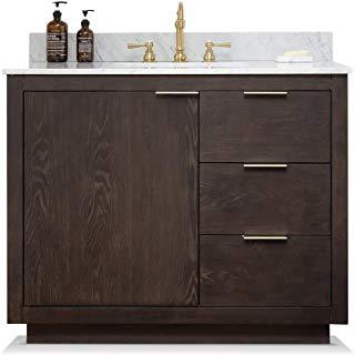 Amazon Com 42 Inch Bathroom Vanity With Top Tools Home Improvement 42 Inch Bathroom Vanity Mid Century Bathroom Mid Century Bathroom Vanity