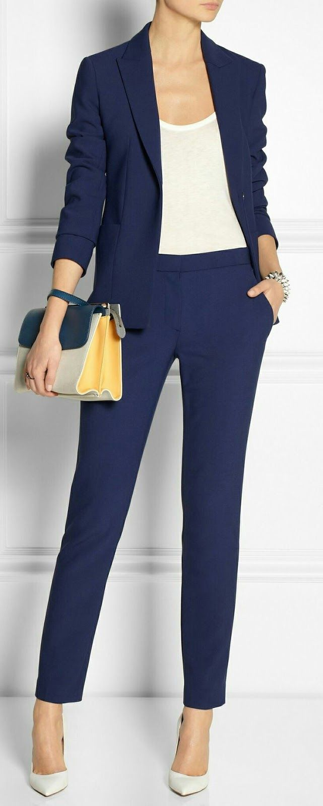 For Women As Well Men A Navy Suit Is Almost Always Your Safest And Most Conservative Choice