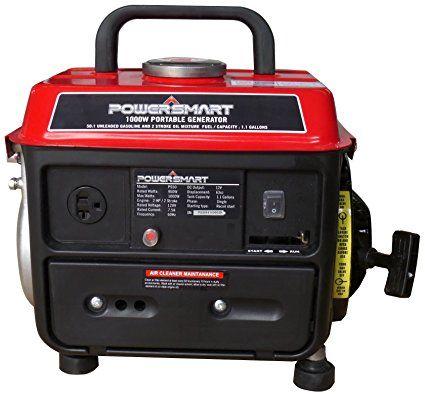 Powersmart Ps50 1000w 2 Stroke Manual Start Portable Generator Red Black Patio Lawn Garden Gas Powered Generator Portable Generator Power Generator