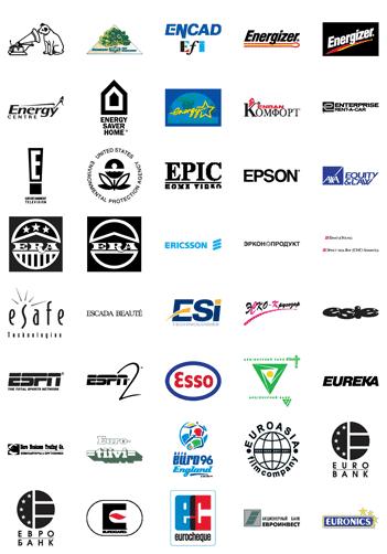 Free Vector Logos Famous Company Logos And Trademarks Letter E Vector Logo Logo Quiz Company Logo