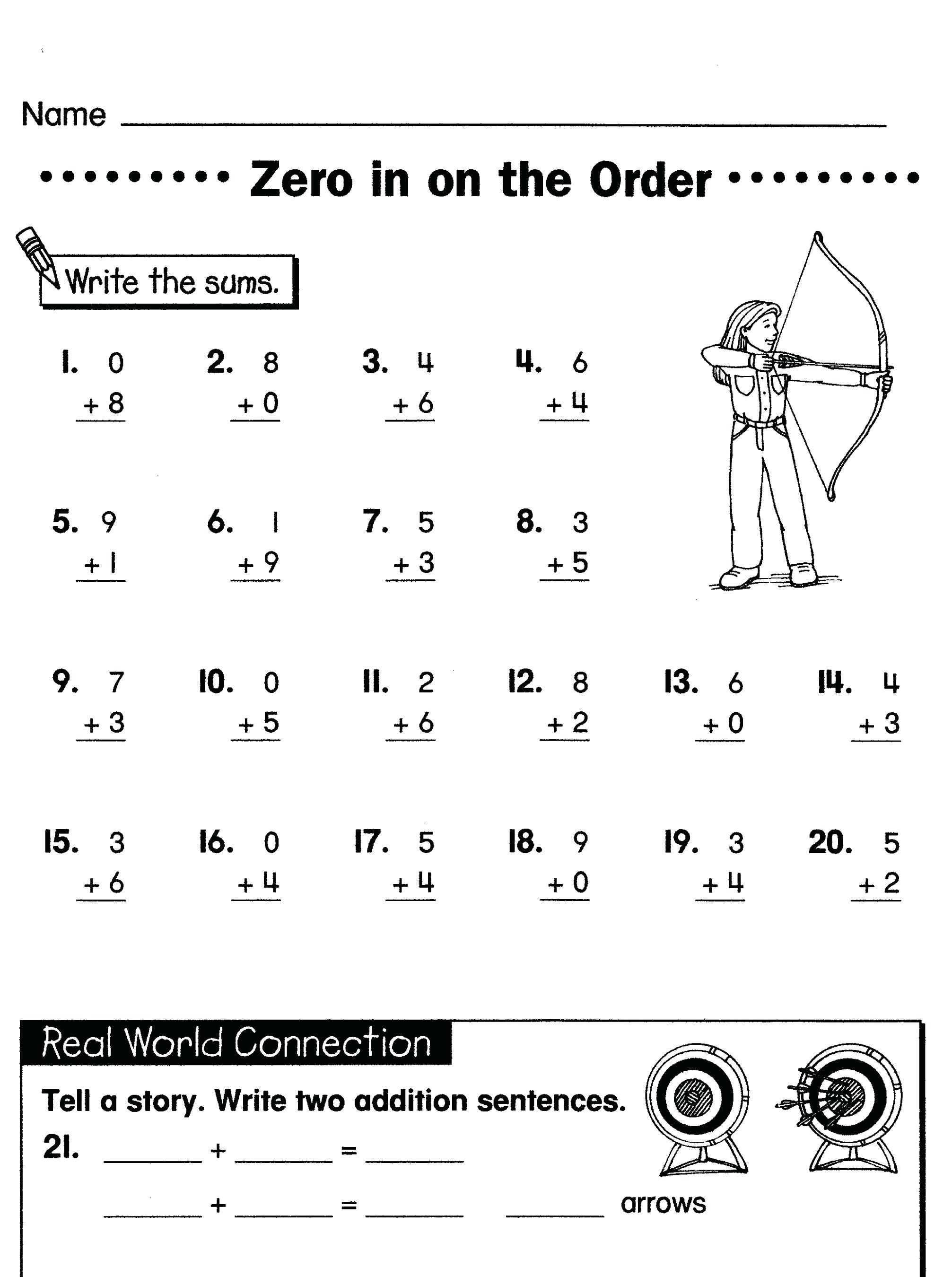 39 Simple First Grade Math Worksheets For You