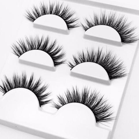 57732b04646 2018 New 3 pairs natural false eyelashes fake lashes long makeup 3d mink  lashes extension eyelash mink eyelashes for beauty