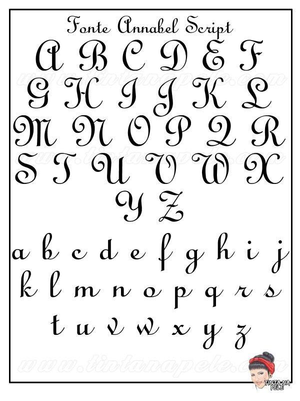 Letra Para Tatuagem Fonte Annabel Script Fontes Para Tatuagem Fonte Cursiva Para Tatuagem Desenho De Letras A Mao