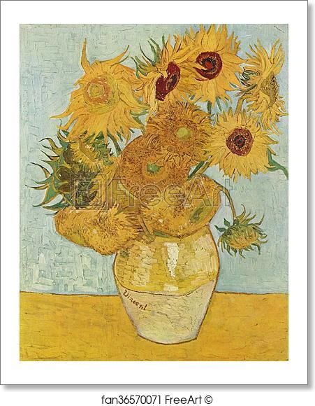 Free Art Print Of Vase With 12 Sunflowers By Vincent Van Gogh Van Gogh Sunflowers Vase With Twelve Sunflowers Van Gogh Paintings