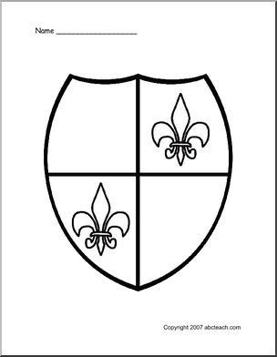 Coloring Page Medieval Shield Preview 1 Armor Of God Lesson
