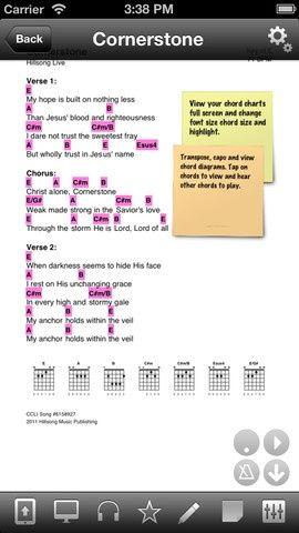 Fantastic Chord Sheet Reader For Ipad And Iphone View Lyrics And