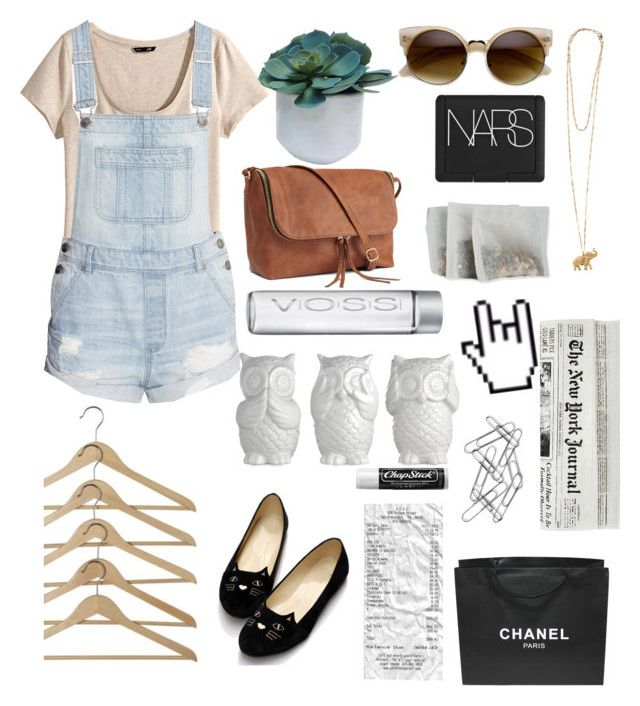 """Somebody stole my car radio so now I just sit in silence."" by xxmusicloverxxx ❤ liked on Polyvore featuring H&M, Vanessa Mooney, Threshold, NARS Cosmetics, Chanel, Home Decorators Collection and Chapstick"