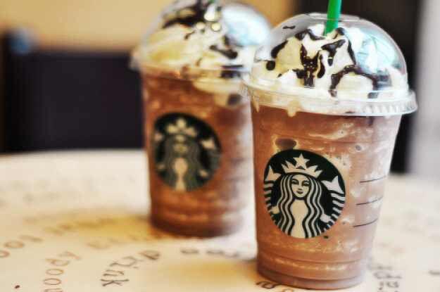 Starbucks frappucinos