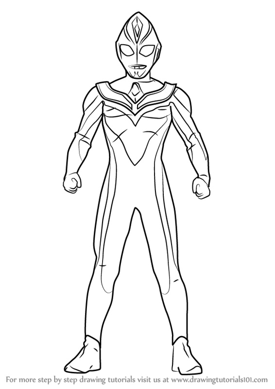 Learn How To Draw Ultraman Dyna Ultraman Step By Step Drawing Tutorials Step By Step Drawing Drawing Tutorial Abstract Coloring Pages