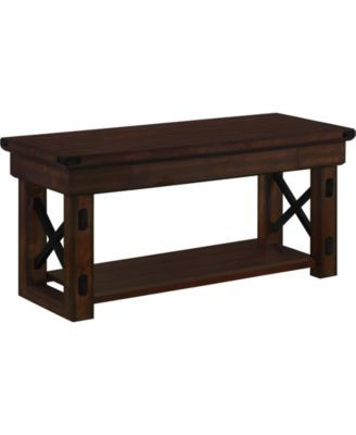 Outstanding Ameriwood Home Broadmore Wood Veneer Entryway Bench Brown Gmtry Best Dining Table And Chair Ideas Images Gmtryco