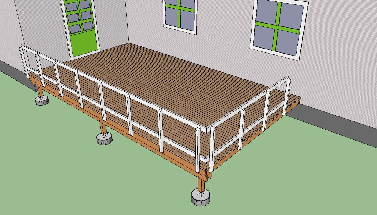 How To Build A Deck Step By Step Howtospecialist How To Build Step By Step Diy Plans Building A Deck Deck Steps Diy Deck