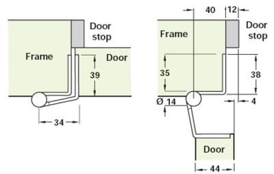 Swing Clear Cranked Hinge