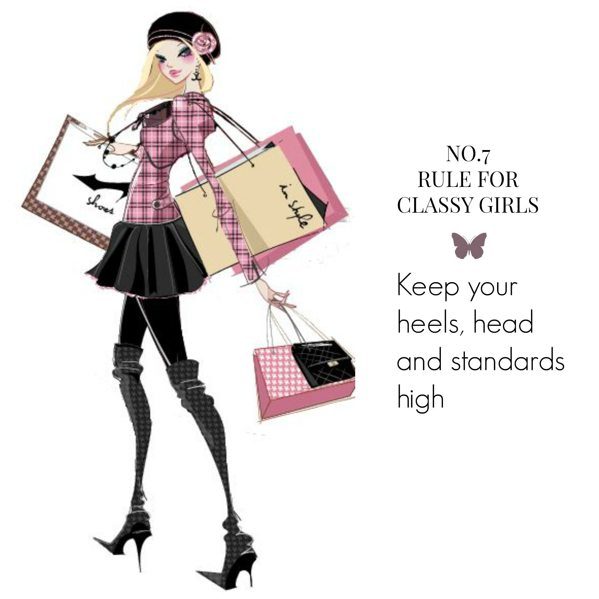 No.7 Rule for Classy Girls http://classygirl.co