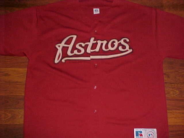 1cbdb0b22 Russell Athletic MLB Houston Astros Brick Red Scripted Men Baseball Jersey  XL  RussellAthletic  HoustonAstros