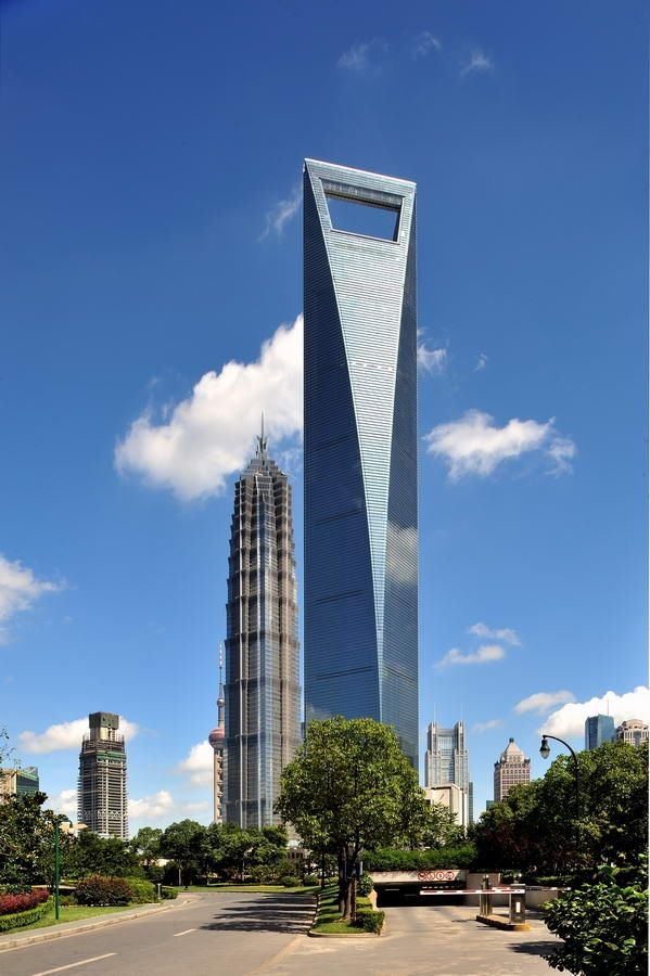 Shanghai World Financial Centre China 492 Meters 1614 Feet Shanghai World Financial Center Amazing Buildings Skyscraper