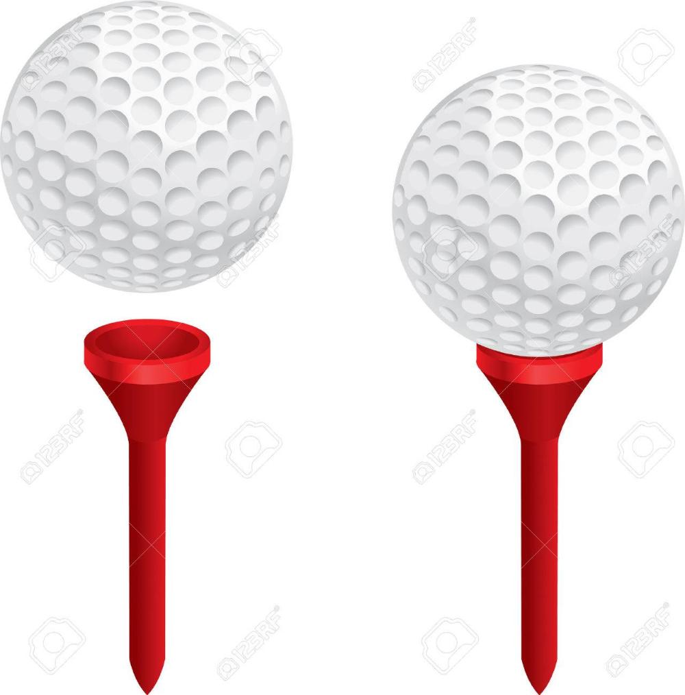 A White Golf Ball On A Red Golf Tee Golf Tees Golf Ball Ball