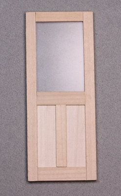 Dollhouse Train Hobby Craft Wood Doors Miniature NEW