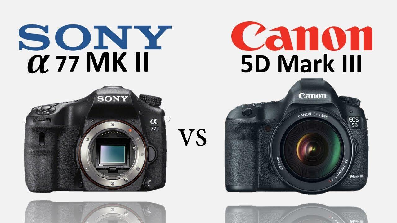 Sony A77 Mark Ii Sony A77ii Vs Canon 5d Mark Iii Sony Camera Alpha Canon 5d Mark Iii Sony Camera