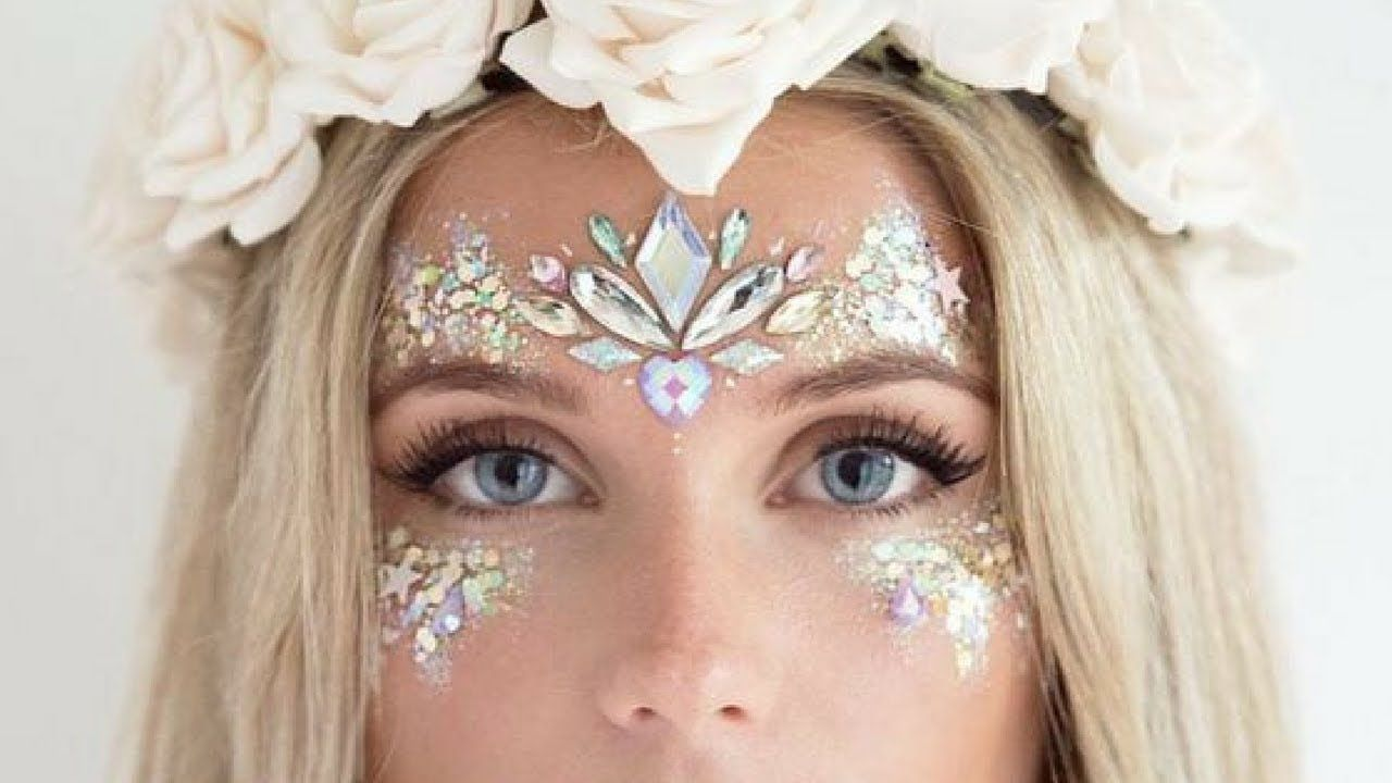 Glitter Festival Makeup and Hair Tutorial Compilation 1 - YouTube #glittermakeup