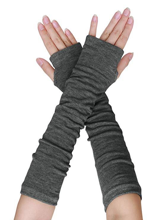 Stretch Strickhandschuhe Herren Frauen Unisex Fingerless Warmer Mittens Neu ~