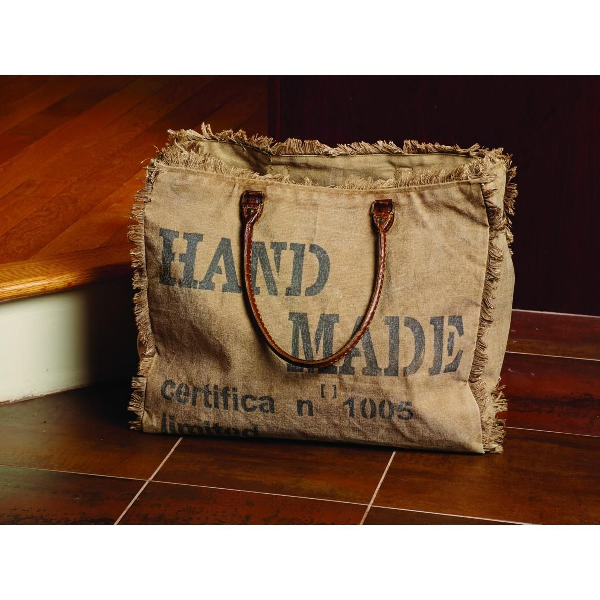 Hand-Made Canvas Bag | Upcycled Canvas Totes | Burlap bags ...