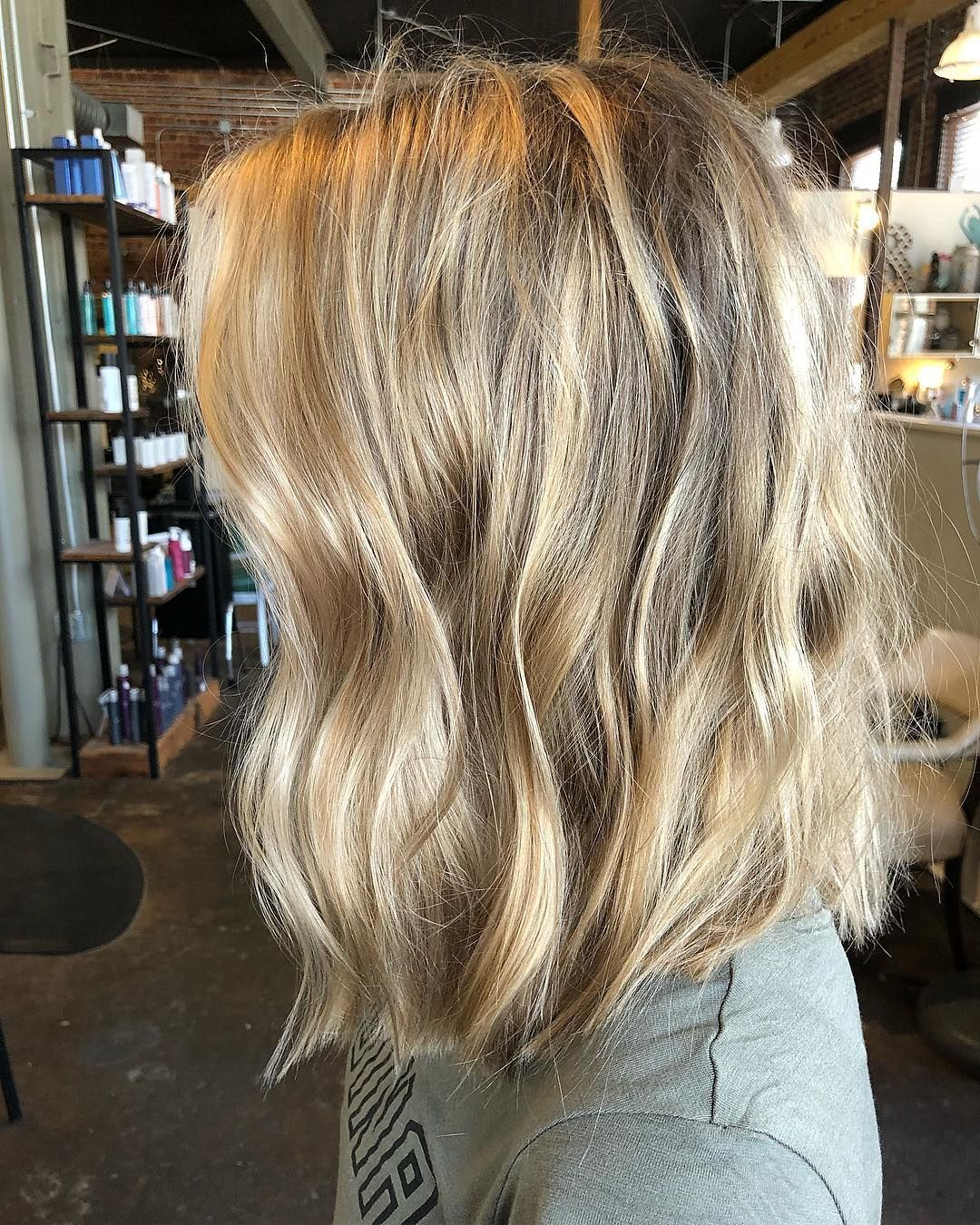 cut at least 6 inches and did full highlight for this babe using her natural base as the shadow root for this i did a