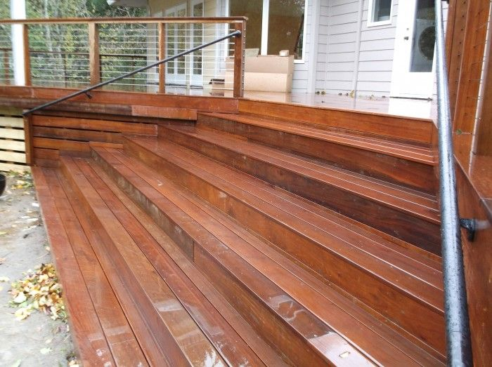 Best Wide Ipe Stairs Cable Railing Deck Skirting Deck Stairs 400 x 300