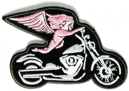Gray Skull Cyborg Robot Motorcycle Biker Embroidered Iron on Patch Free Postage