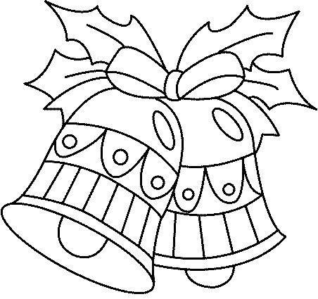 dibujo de campanas de navidad para colorear  Buscar con Google