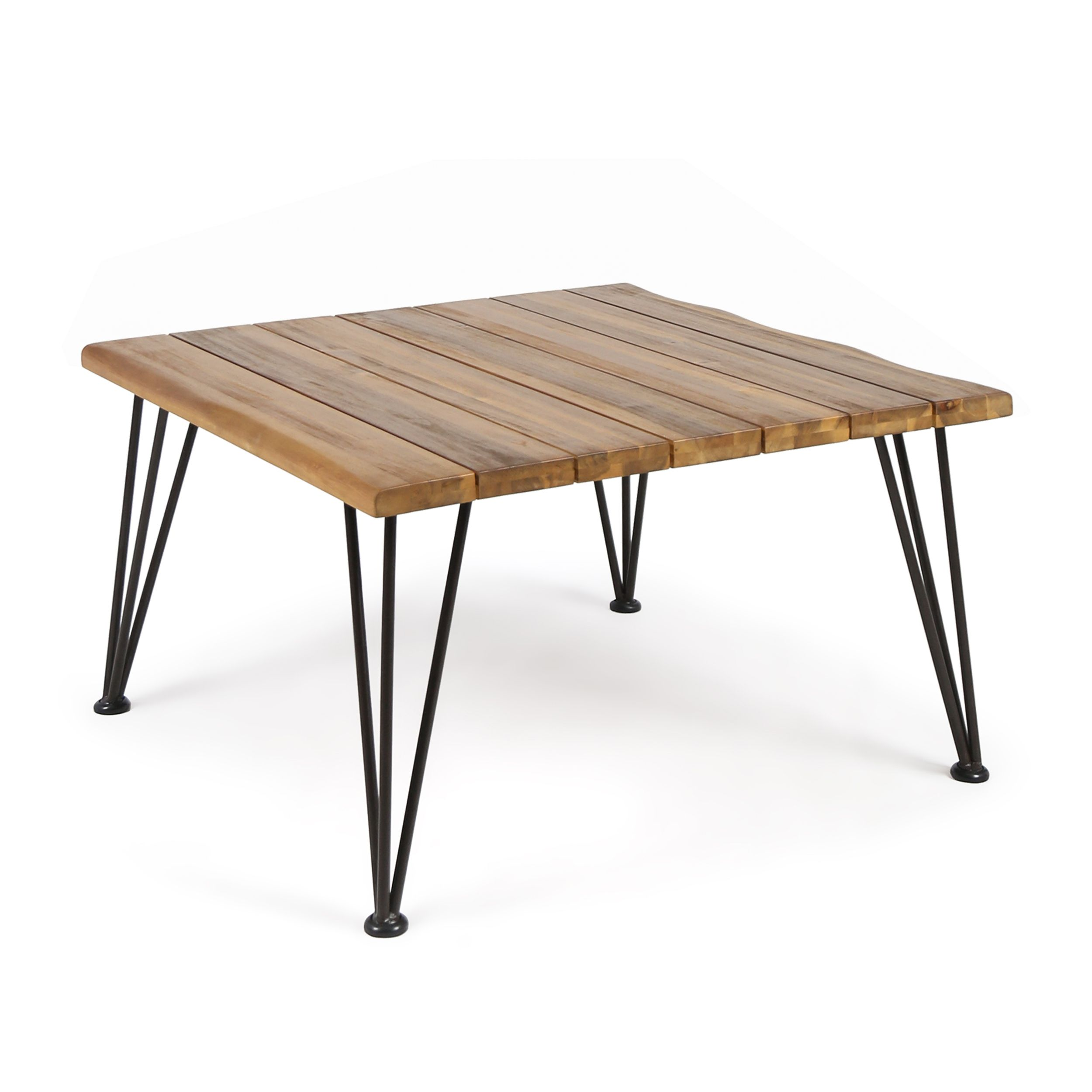 Home outdoor coffee tables wood square acacia wood