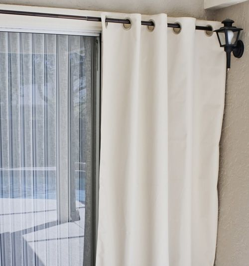 Coolaroo Exterior Curtain In Parchment Curtains Panel