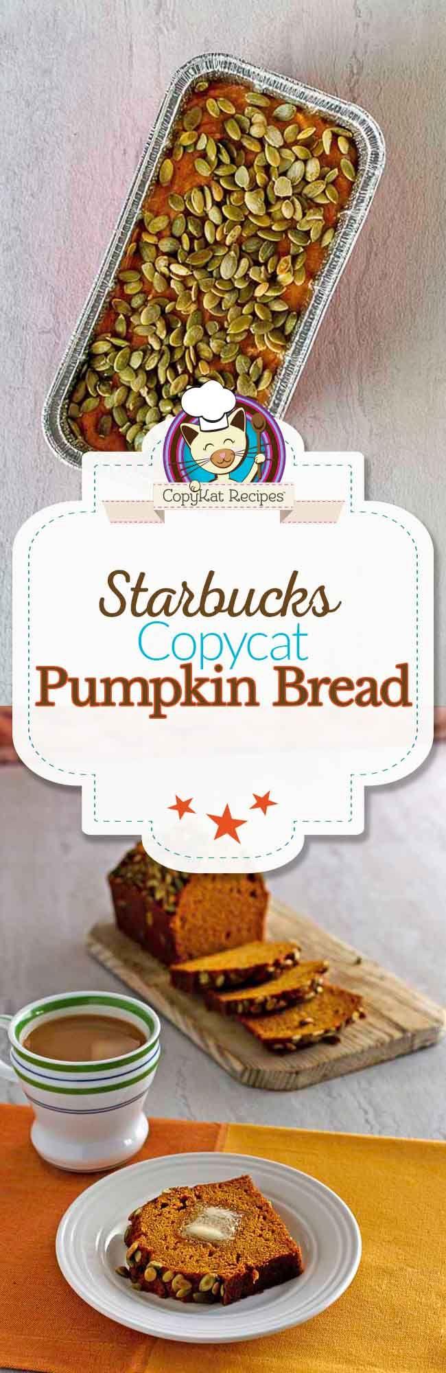 Starbucks Pumpkin Bread Recipe Starbucks pumpkin bread