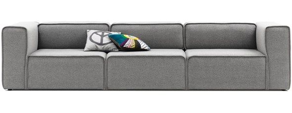 sweet designer couches. 3 Seater Designer Customisable Sofas  Corners By BoConcept Carmo three seater sofa in grey Lux Felt fabric 2989 EUR