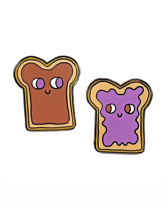 Peanut Butter & Jelly Pin Set (With Images)