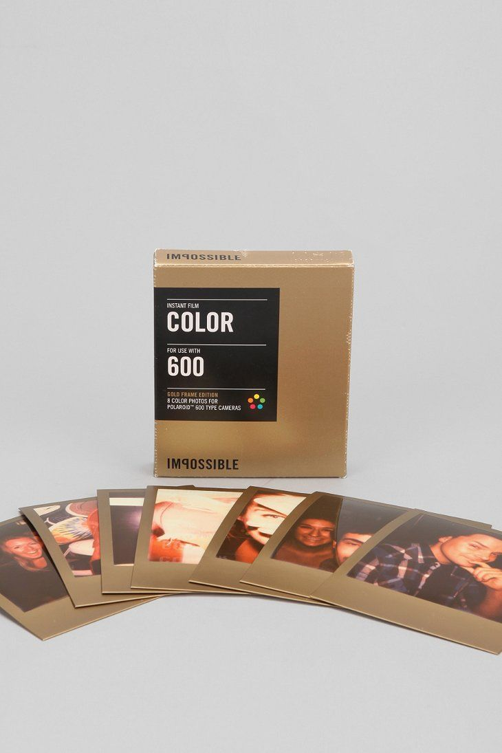 fb5a88378c3 Impossible Gold Frame Color Polaroid 600 Instant Film - Urban Outfitters  New Polaroid Camera