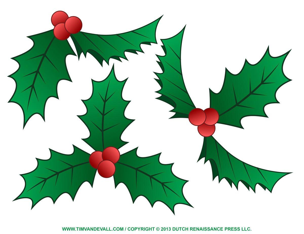 Mistletoe Clip Art Free Holly Border