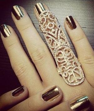 Repinned: Shiny Gold Nails