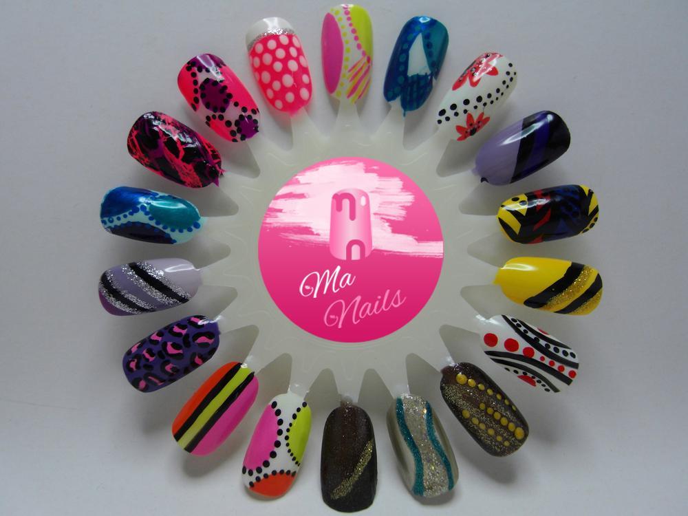 Bright Coloured Nail Art Designs Ma Nails Nails Art And