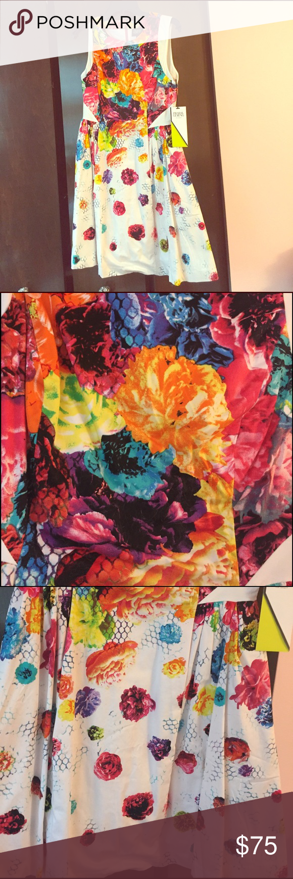 Prabal gurung for target beautiful floral dress This a line dress is gorgeous! I've recently had a baby so I don't think a size 4 will ever cut it again. Otherwise I'd never let it go it was so hard to find!!! Absolutely stunning colors Prabal Gurung for Target Dresses