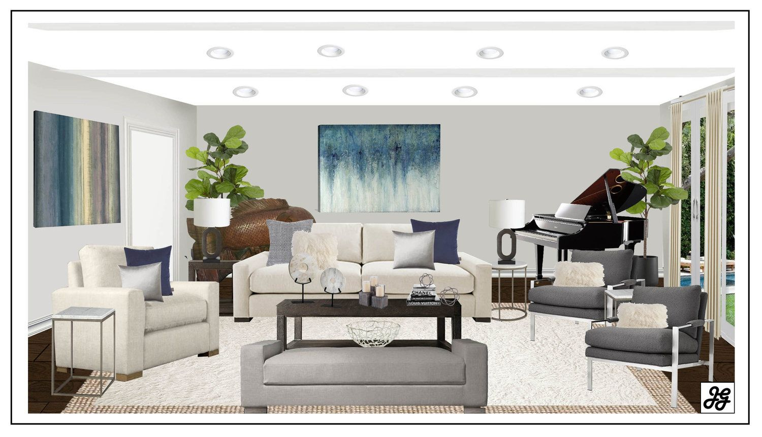 Living Room Design Online Delectable Contemporary Living Room Design Board Modern Farmhouse Living Room 2018
