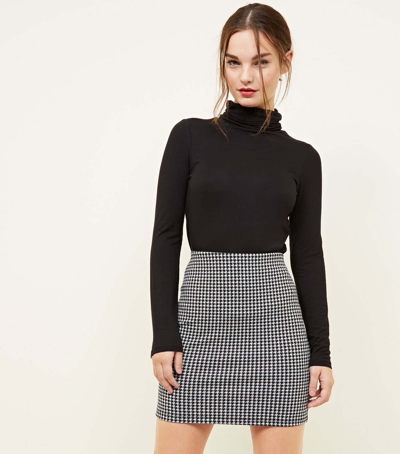 0bbe4bff2d54 Petite Black Houndstooth Tube Skirt in 2019 | what to wear ...