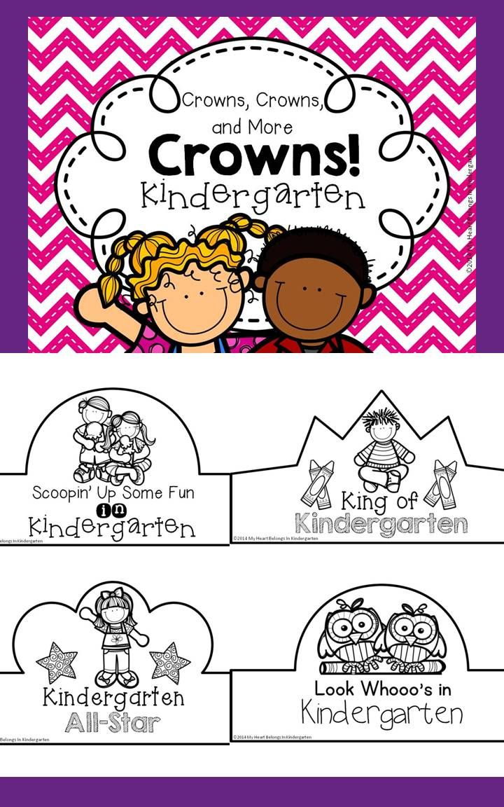 Back To School Crowns For Kindergarten First Week Of School First Week Of School Ideas Preschool First Day First Day Of School Activities [ 1152 x 720 Pixel ]